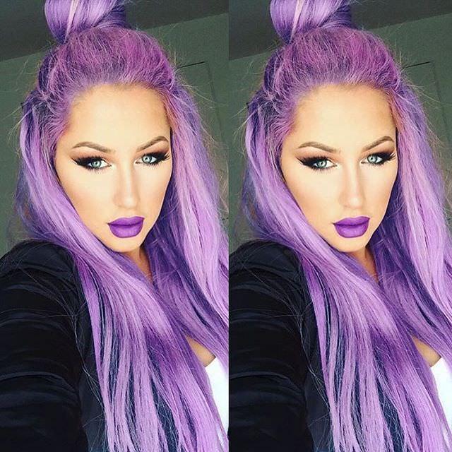 purple shaded up bun