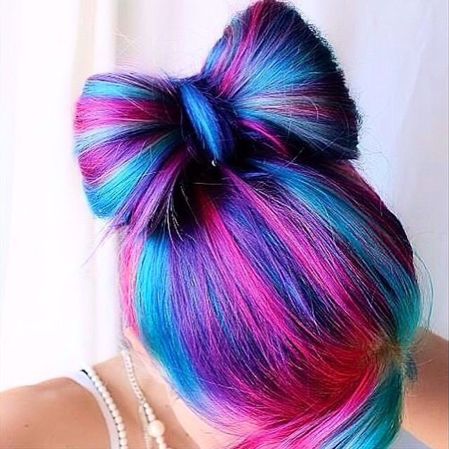 Shaded Bow Hair Style