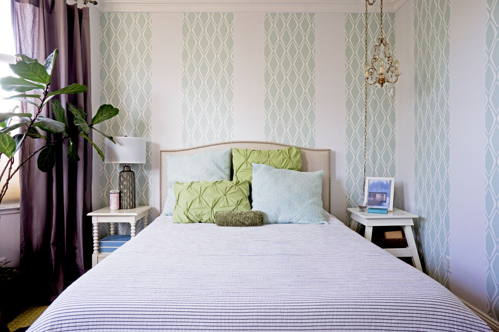 Geometric Wallpaper Designs Decor Ideas Design Trends - Wallpaper designs for master bedroom