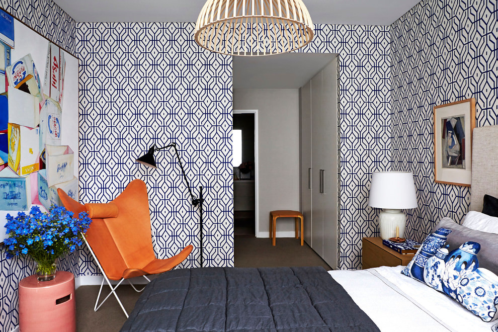 22+ Geometric Wallpaper Designs, Decor Ideas