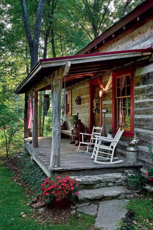 vintage style rustic porch design
