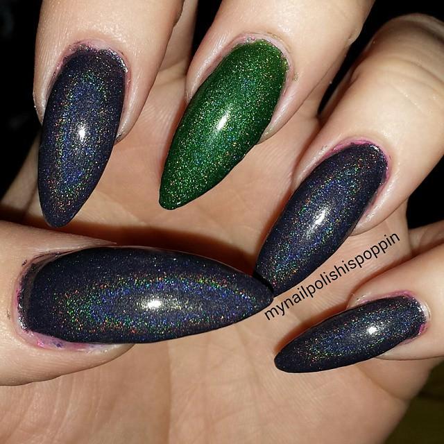 glitter claw nail designs