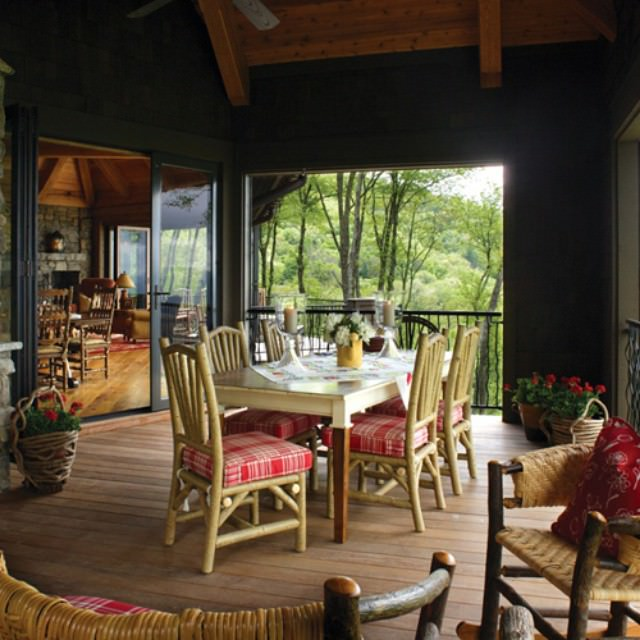 Rustic Porch with Furniture
