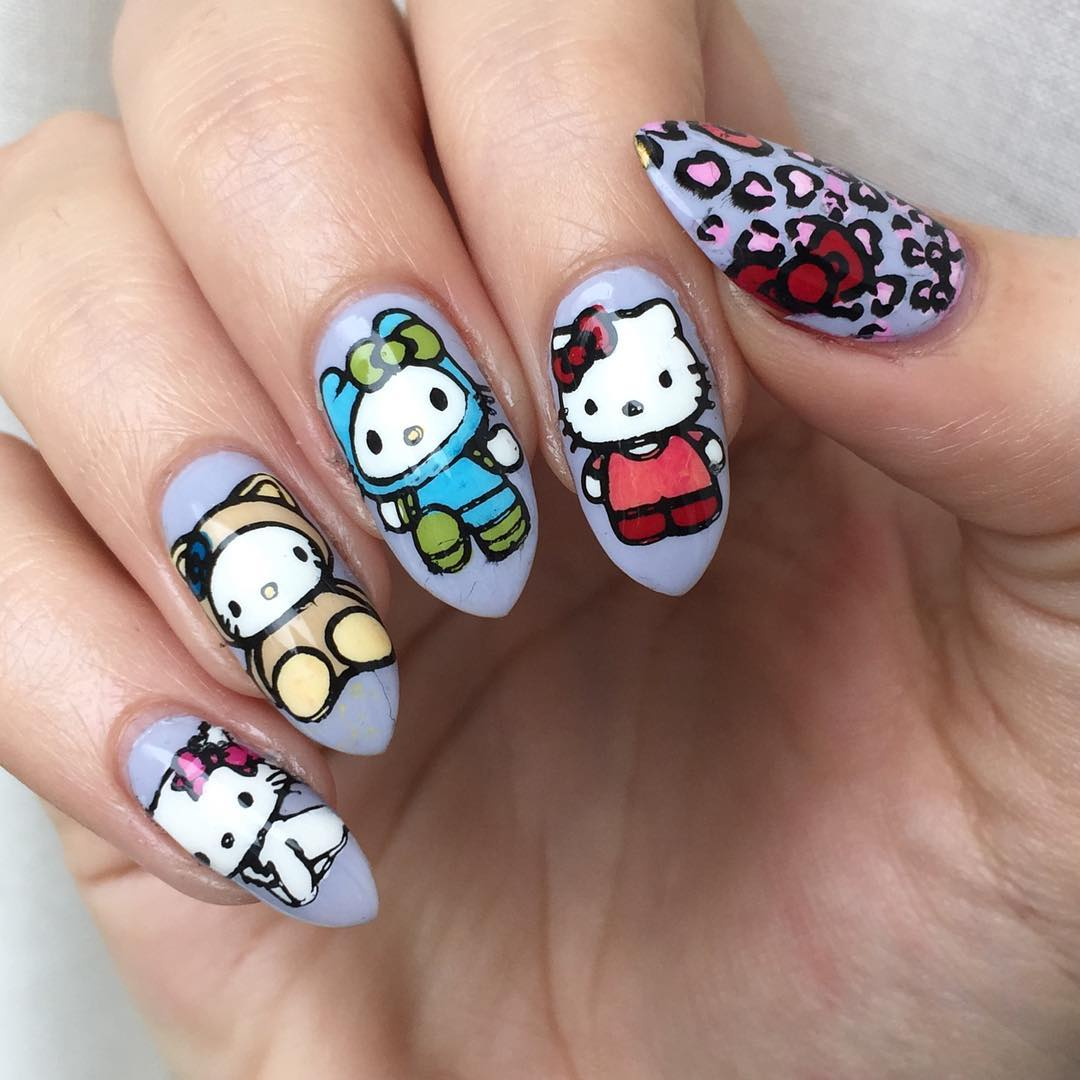 Mickeymouse Art on Claw Nails