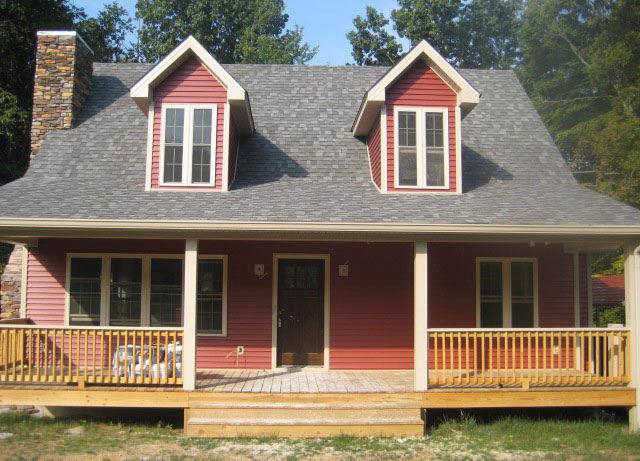 spacious rustic porch design