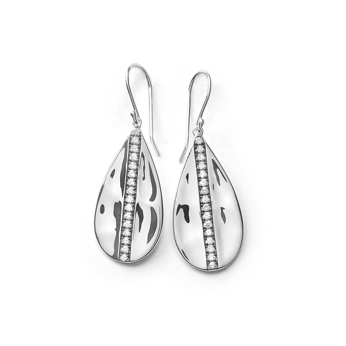 stylish silver earrings