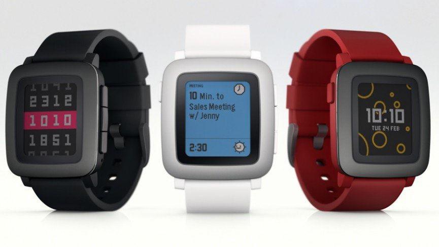 pebble steel watch