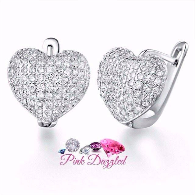 Sparkle Heart Cute Earrings