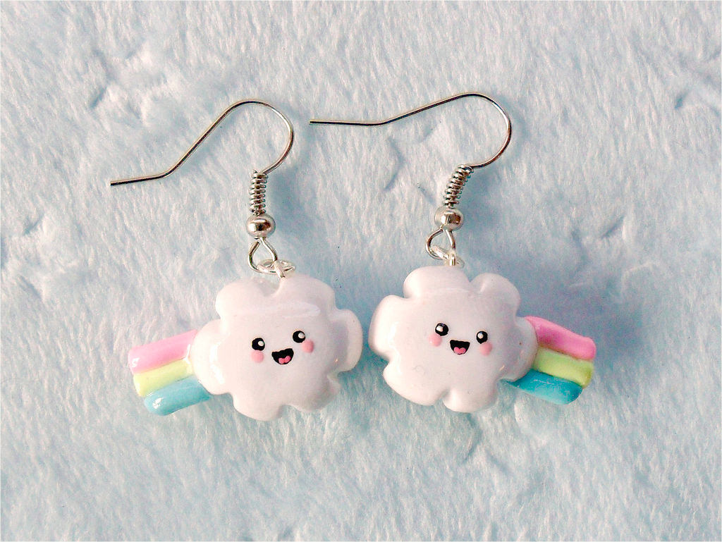 Rainbow Color Cute Earrings