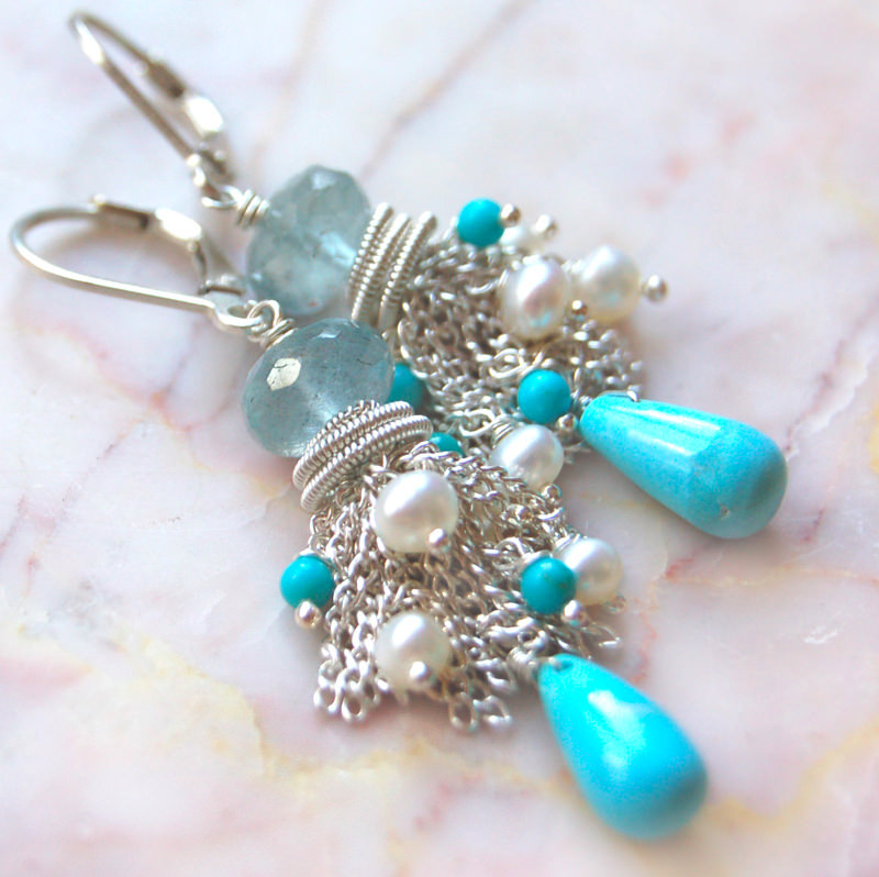 Cute Blue Color Earrings