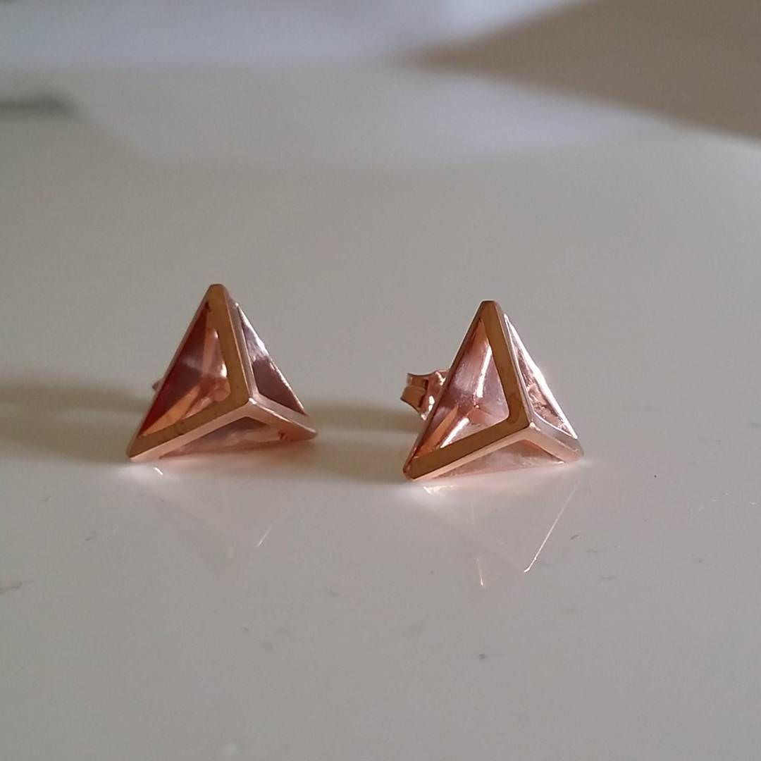 natural rose gold earrings