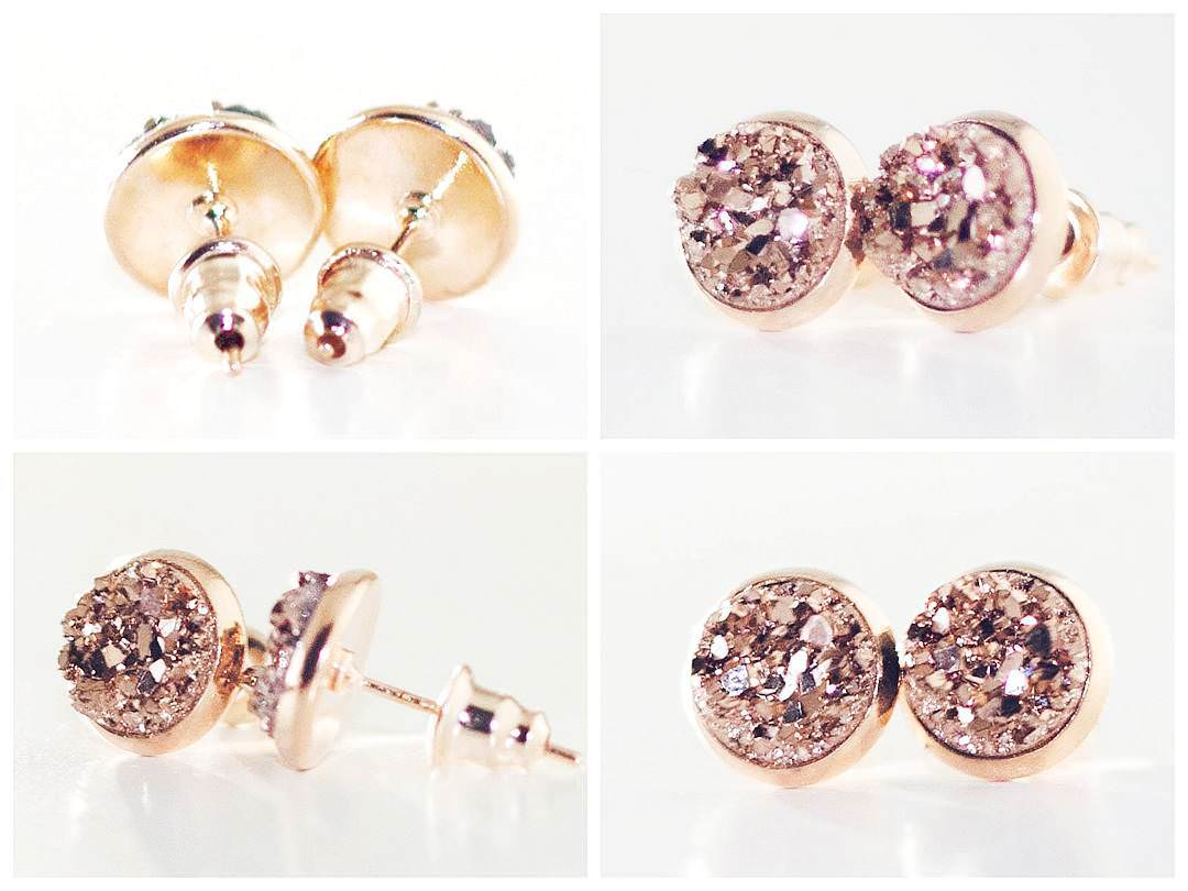 Beautiful Set Of Rose Gold Earrings
