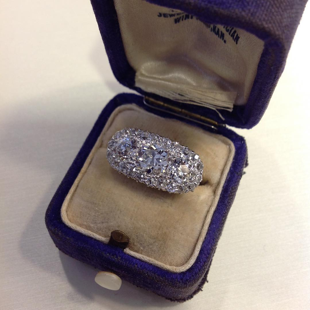 Romantic Bridal Wedding Antique Diamond Rings