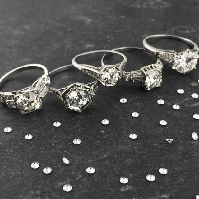 Beautiful Set of Anitique Diamond Rings
