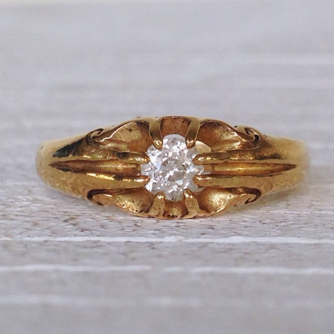 Vintage Antique Gold Diamond Ring