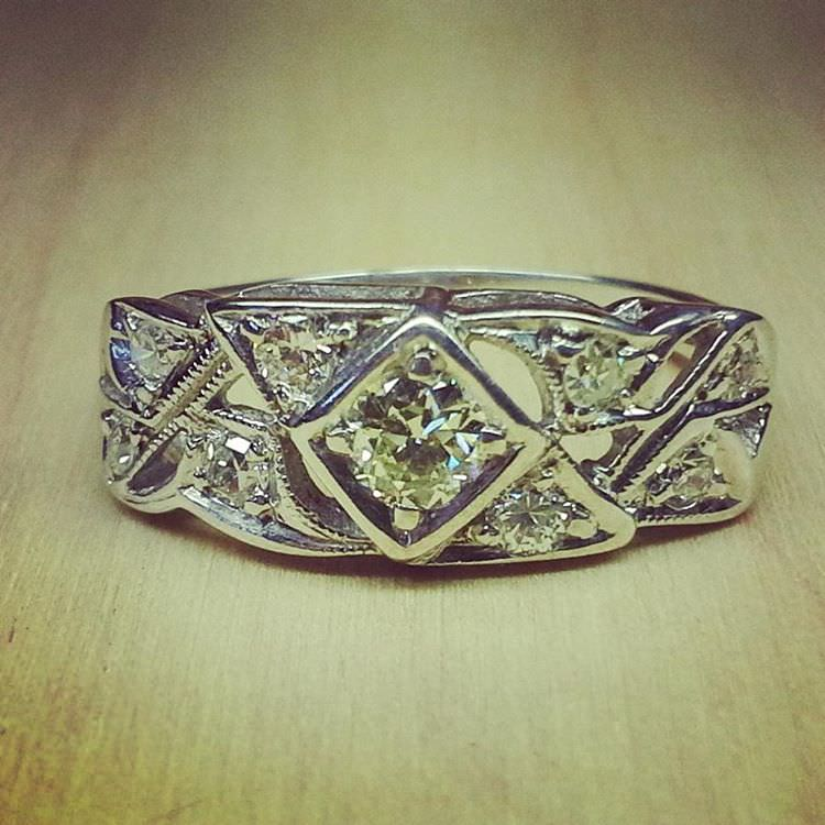 Glowing Antique Diamond Ring