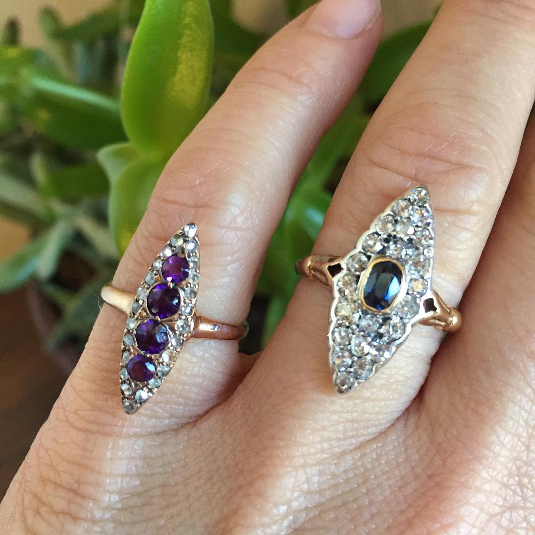 Radiant Antique Diamond Rings