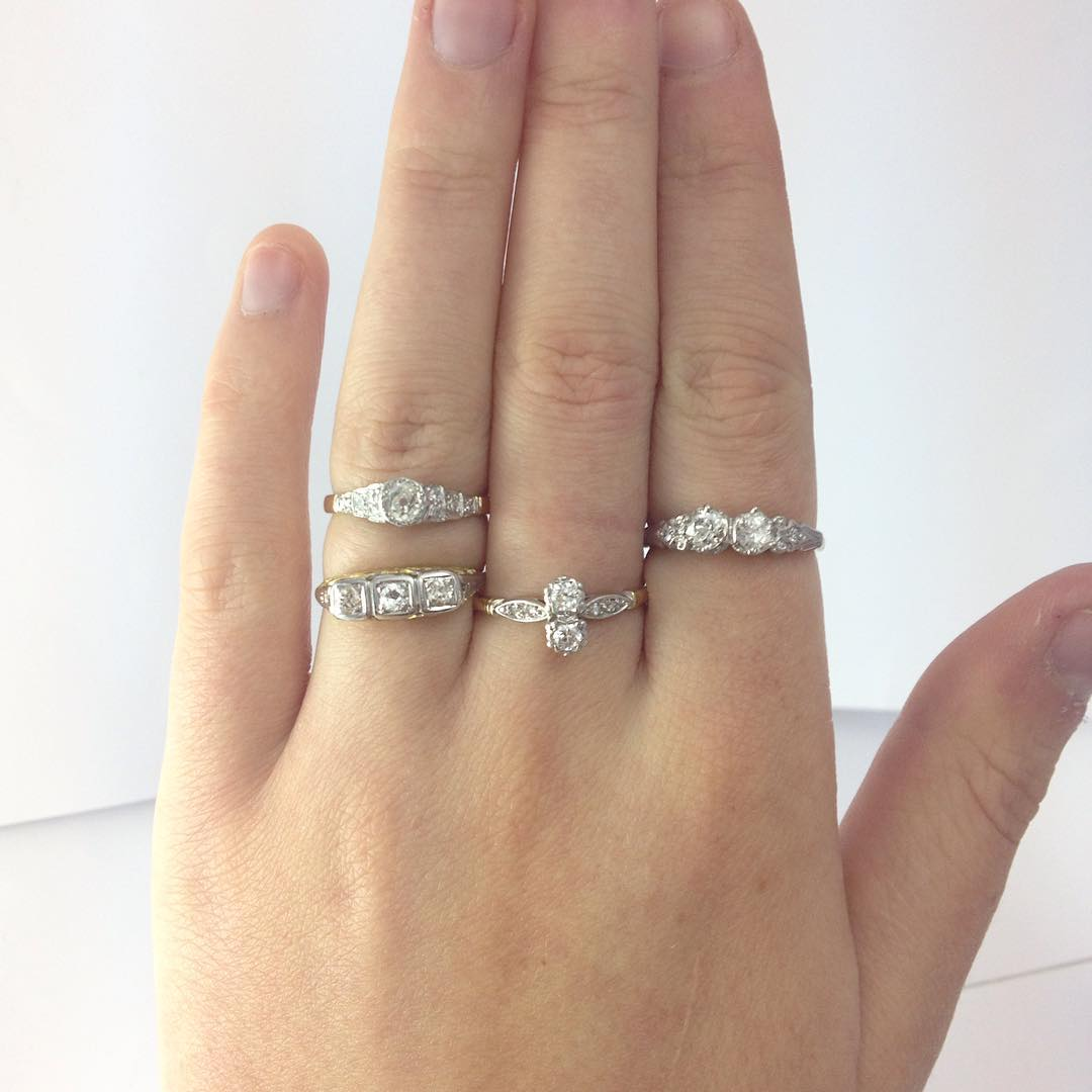 Collection of Amazing Antique Diamond Rings