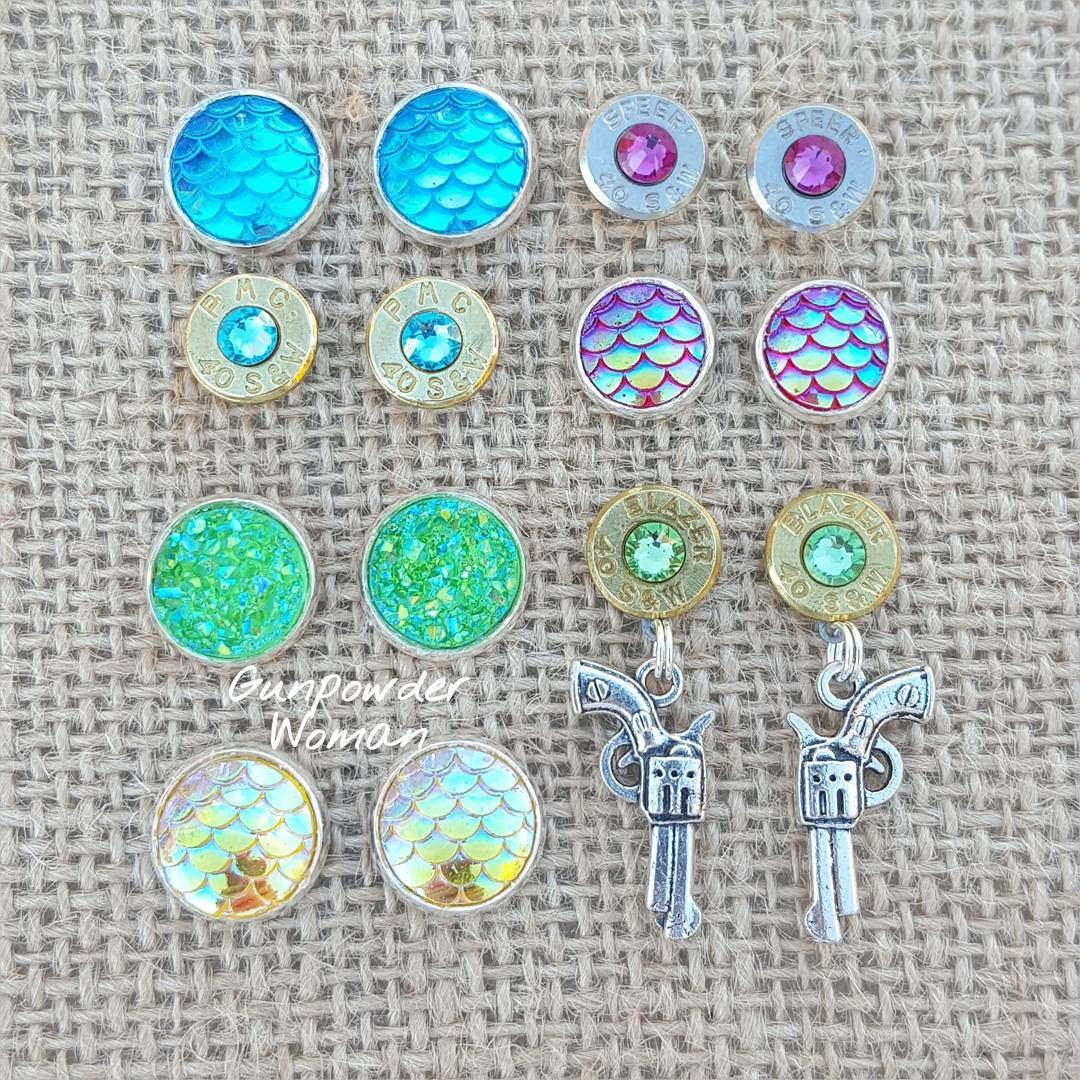 beautiful set of bullet earrings