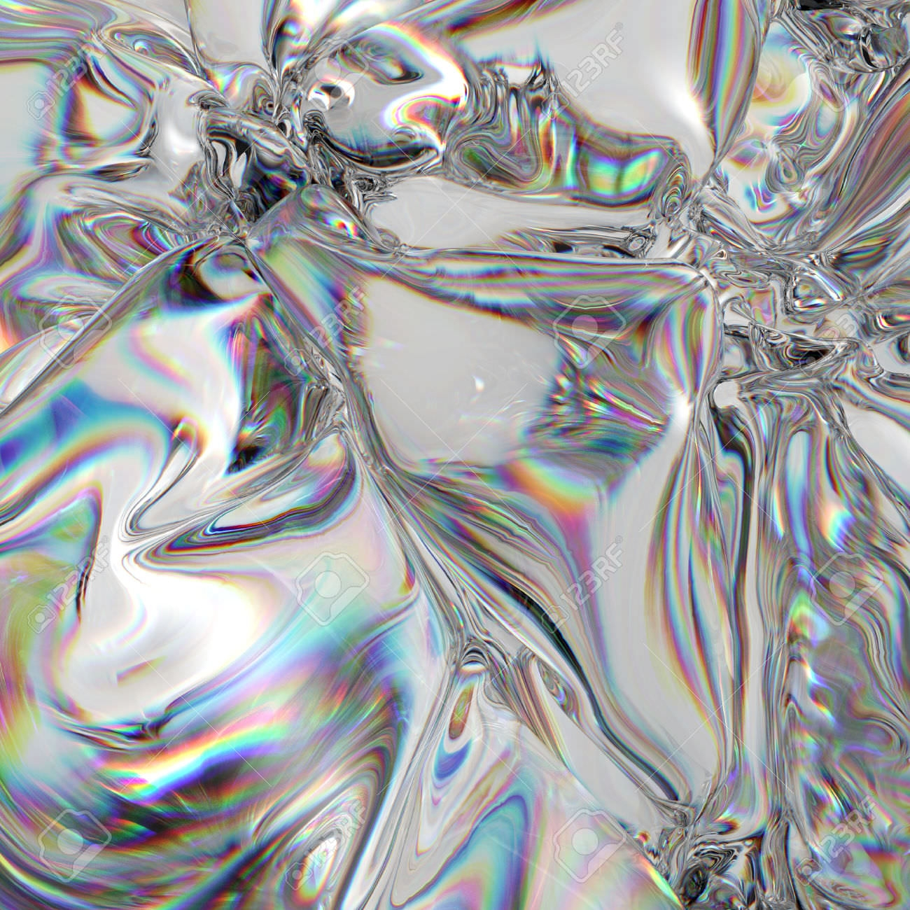 3D Abstract Silver Texture
