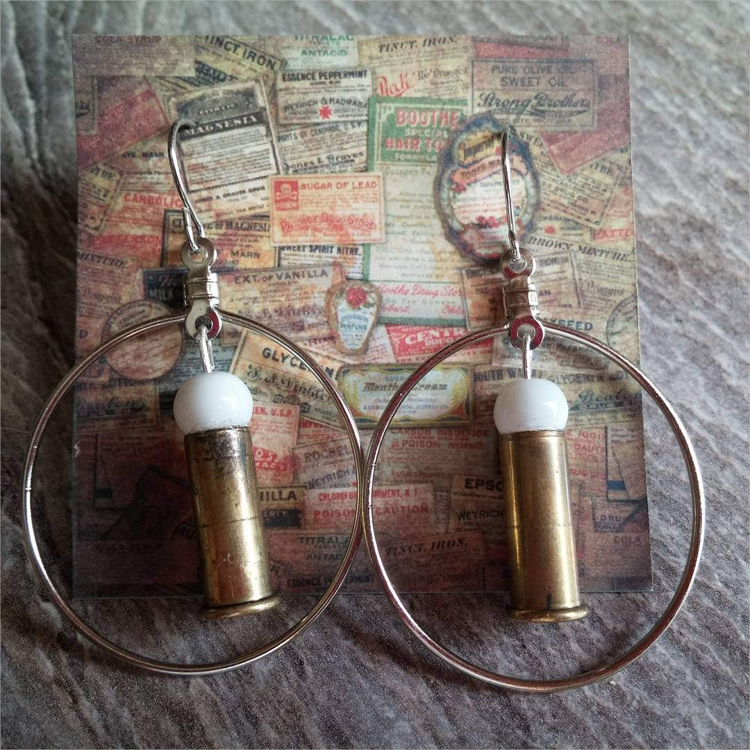 simple bullet earrings