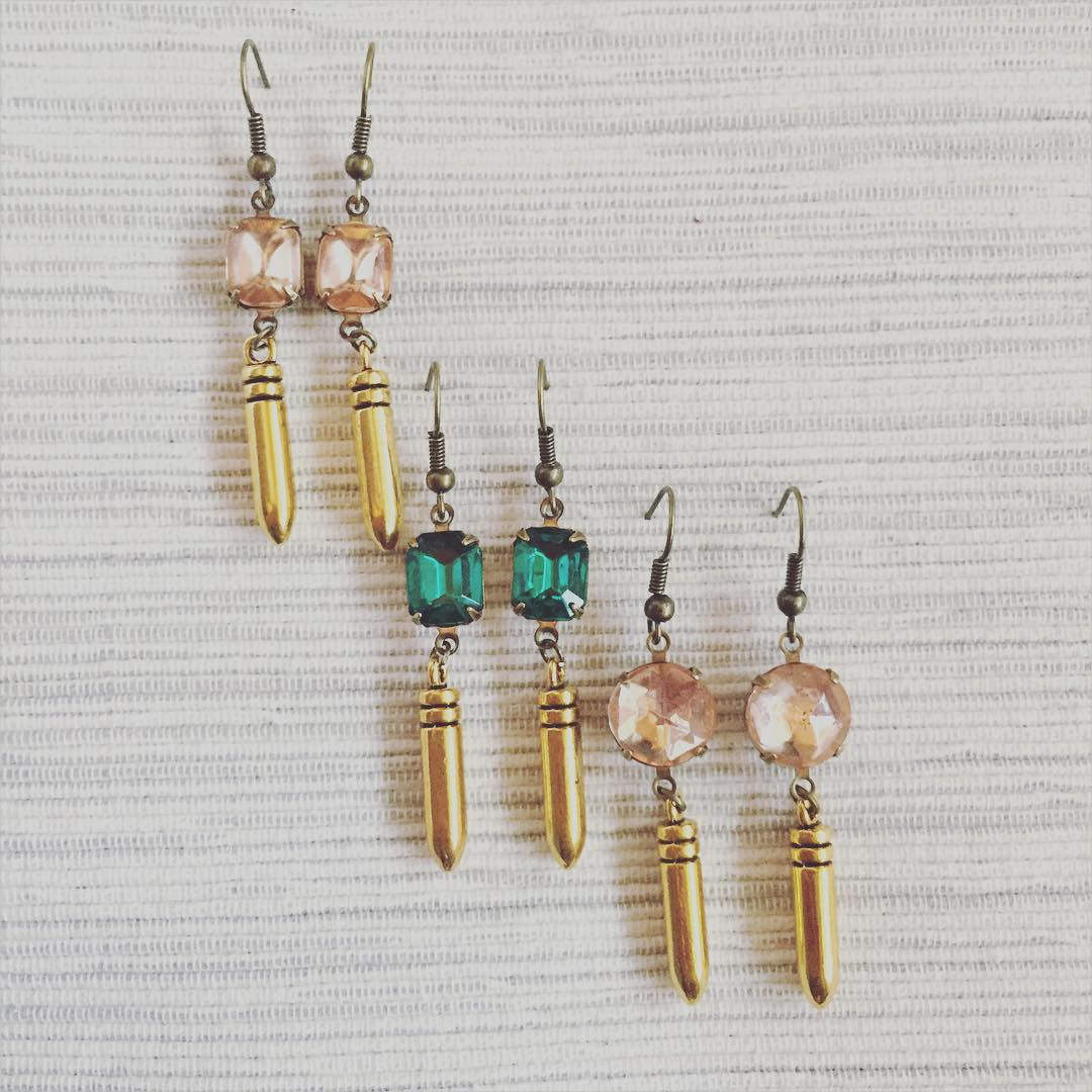 Gold Bullet Earrings
