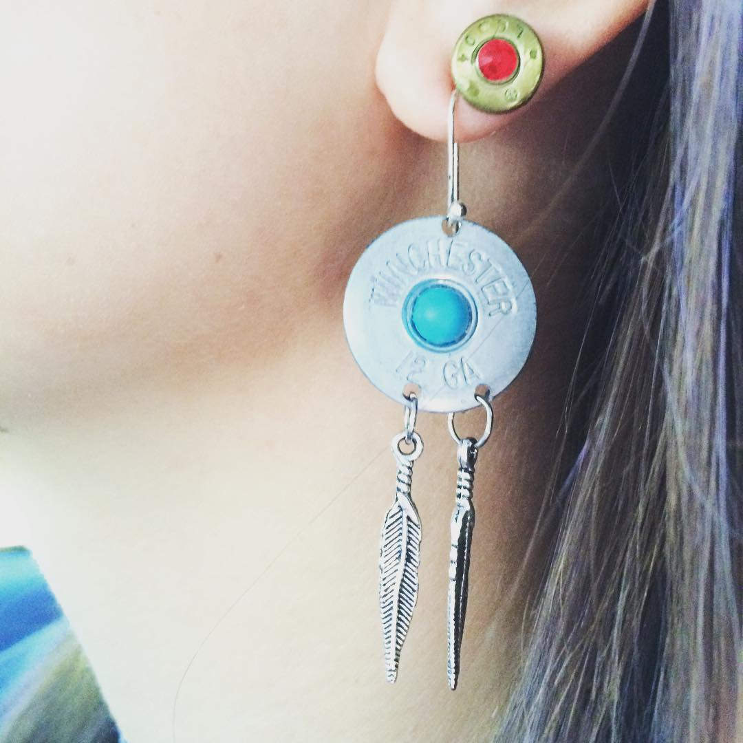 crazy bullet earrings