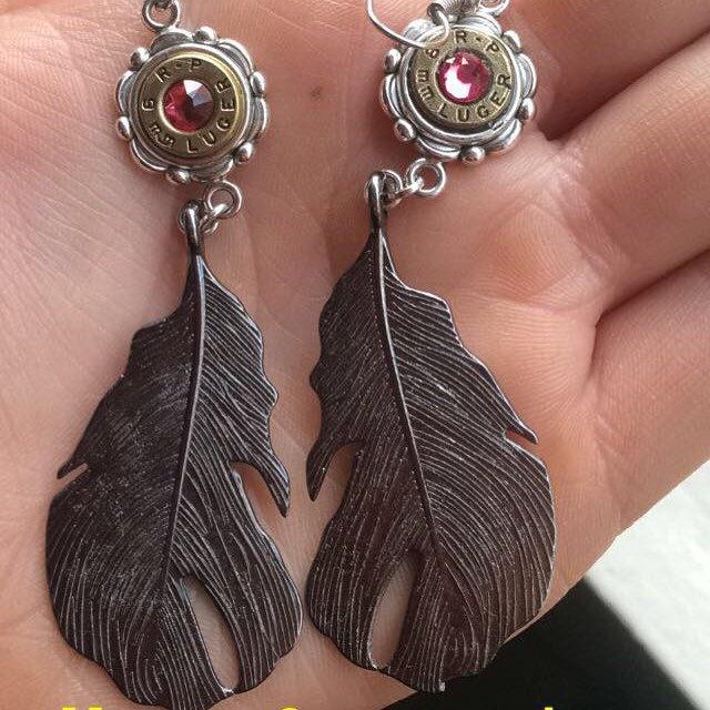 new leafy bullet earrings