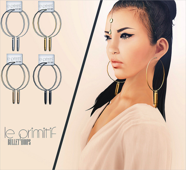 Bullet Hoop Earrings