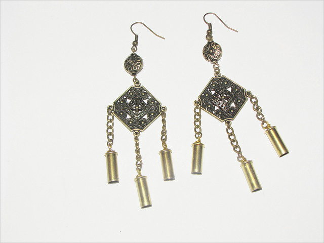 Antique Bullet Earrings