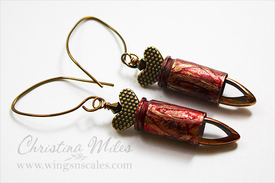 Funky Bullet Earrings