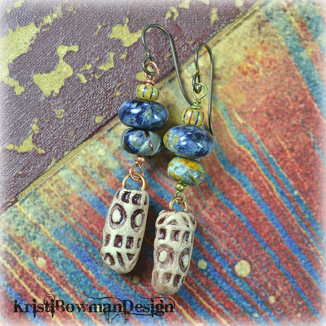 polymer clay bullet earrings