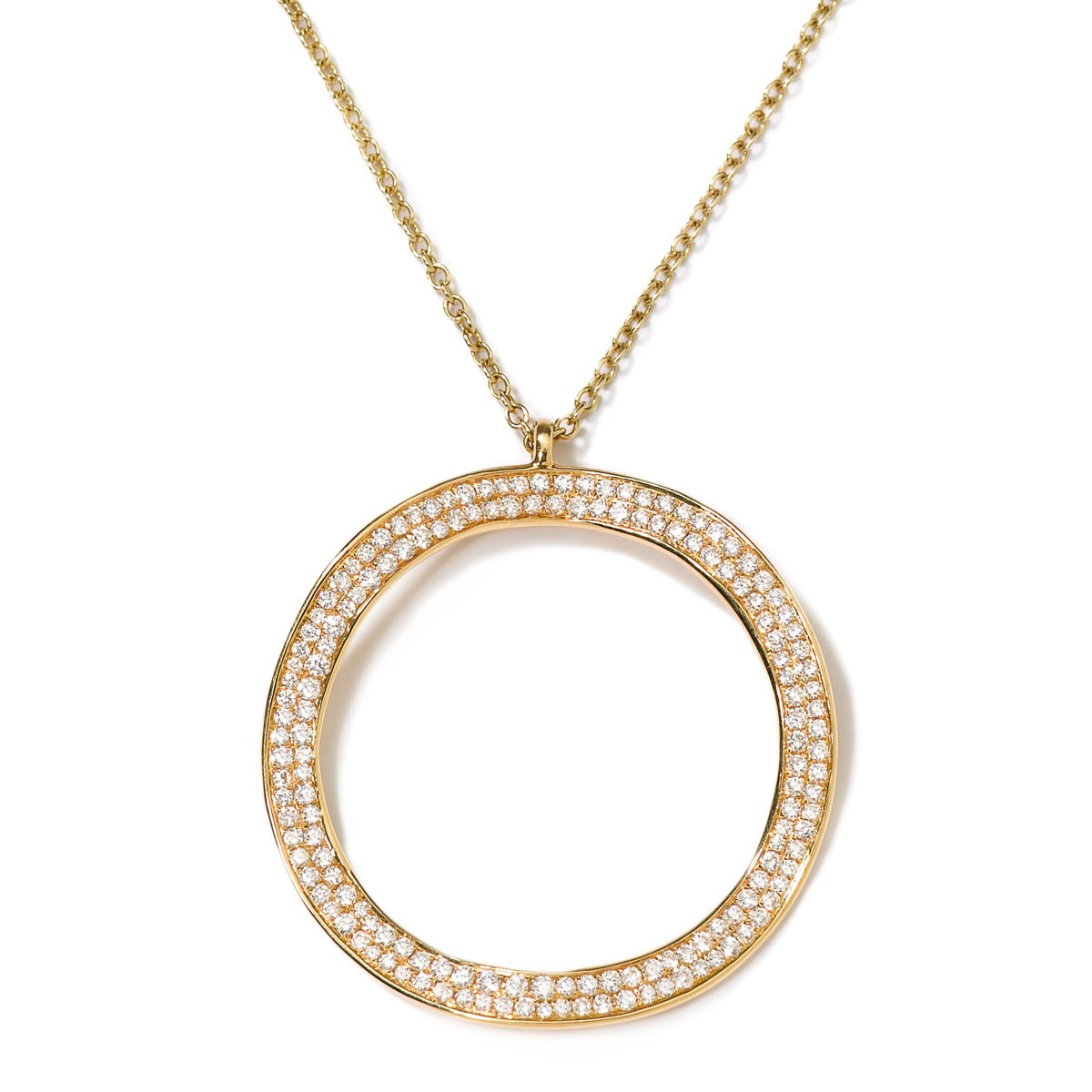 Stylish Minimal Necklace With Hollow disc Pendant