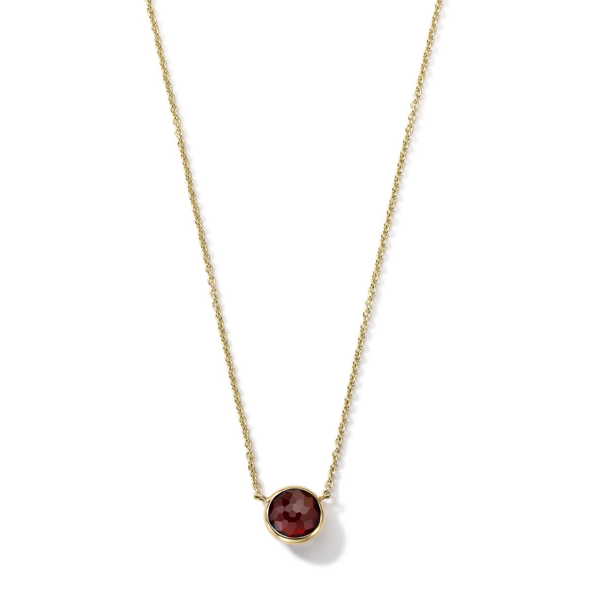 Simple Red Stone Pendant Minimal Necklace