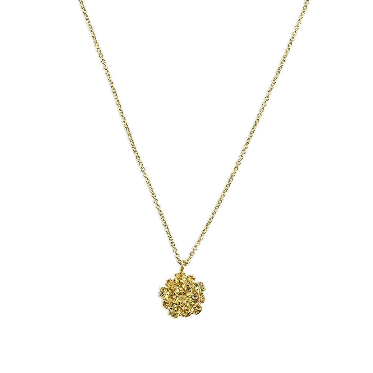 Sparkling Golden Flower shape Mini necklace