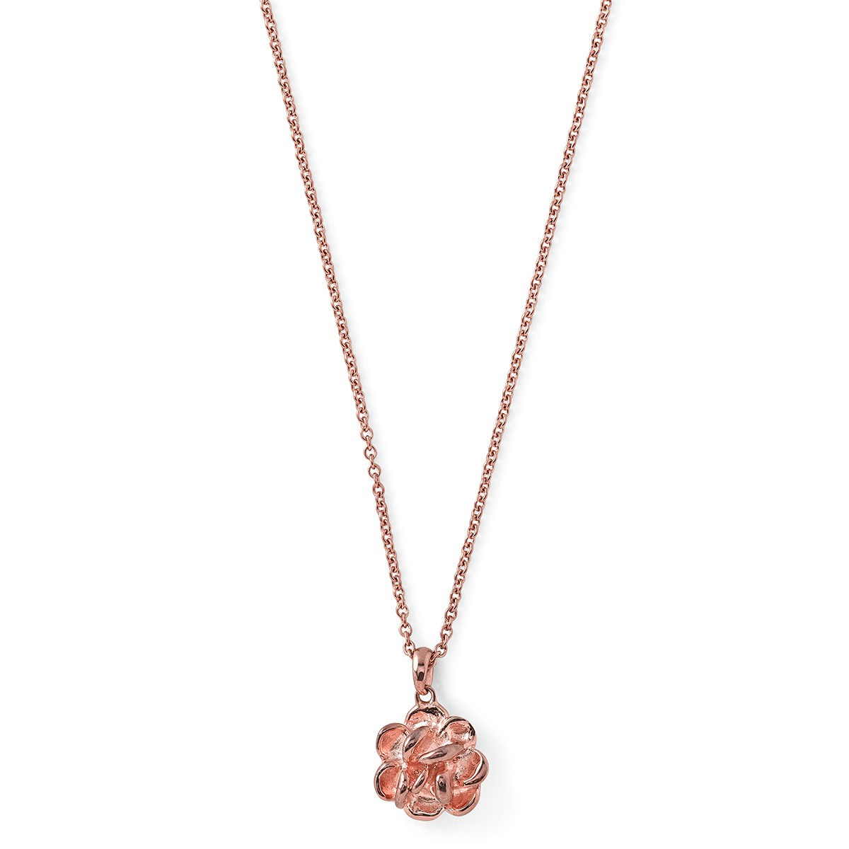 Radiant Rose Gold Flower Pendant Mini Neckalace