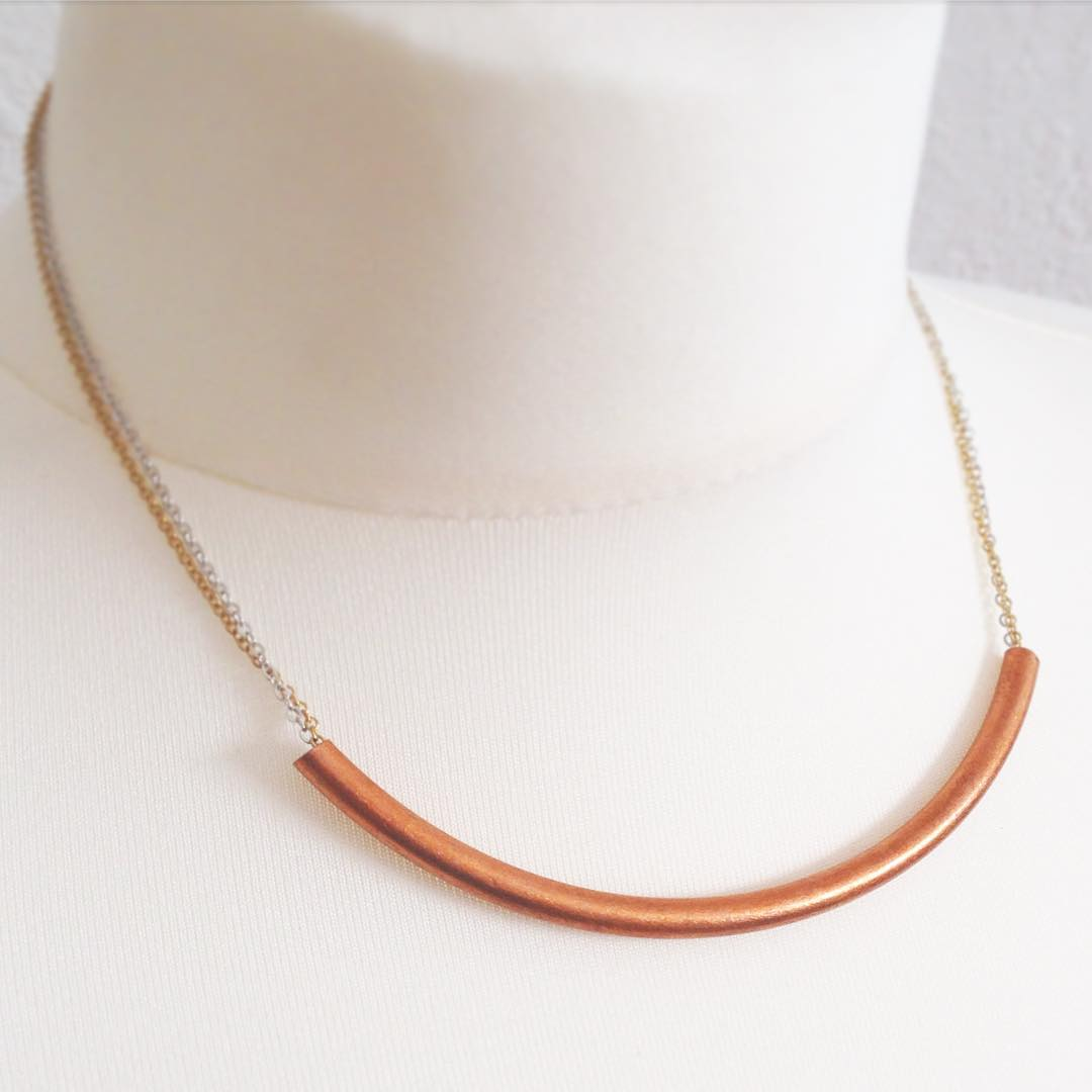 Beautiful Copper Tube Mini Necklace