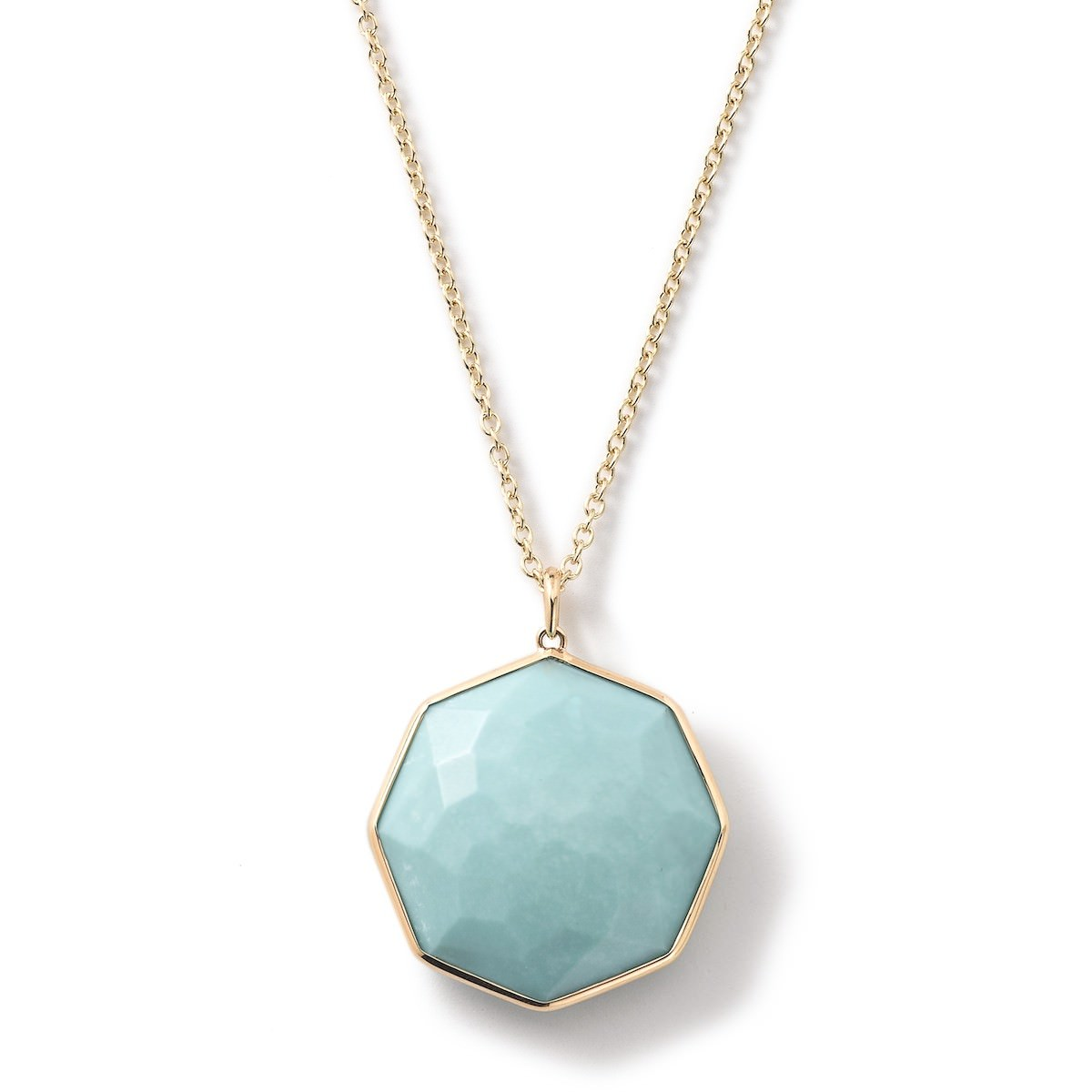 Unique Rock Octagonal Pendant Mini Necklace