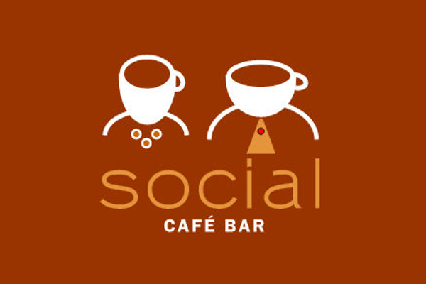 social cafe logo design