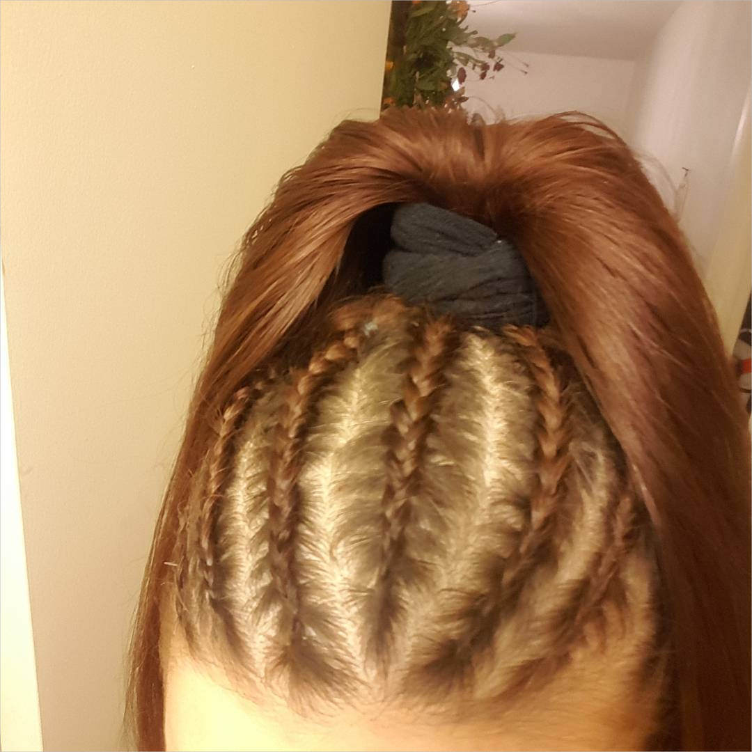 Cornrow Ponytail Hairstyle