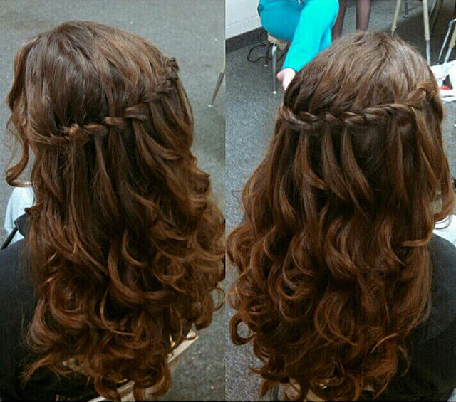 Waterfall Hair Style For Long Hair