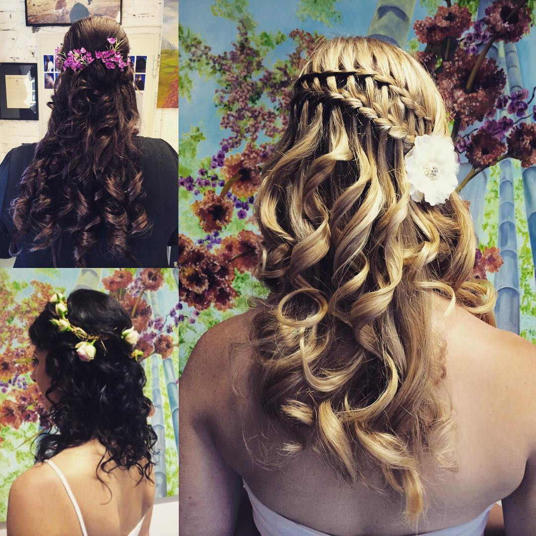 Lovely Flower Hair Styles.