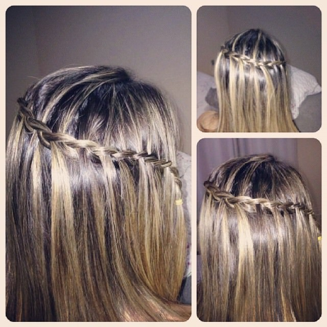 Attractive Waterfall Hairstyle