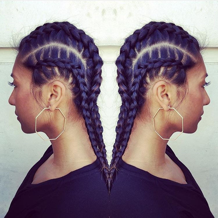 Braided Cornrow Hairstyle