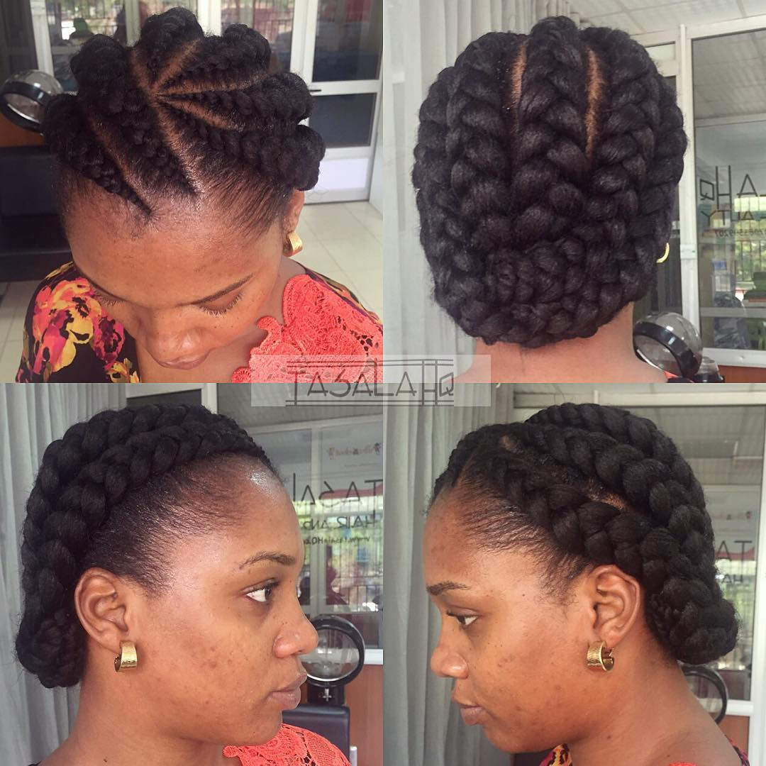 Elegant Cornrow Hairstyle