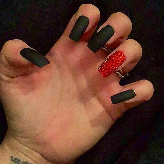 Black Red Elegant Nail Design - 29+ Red And Black Nail Art Designs, Ideas Design Trends