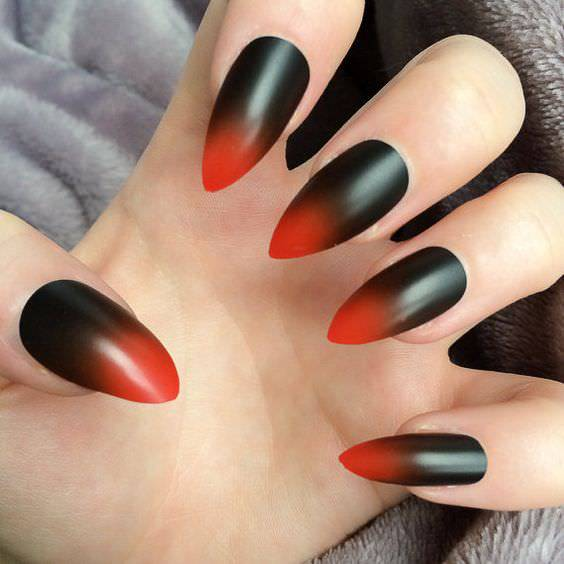 cross nail matte design