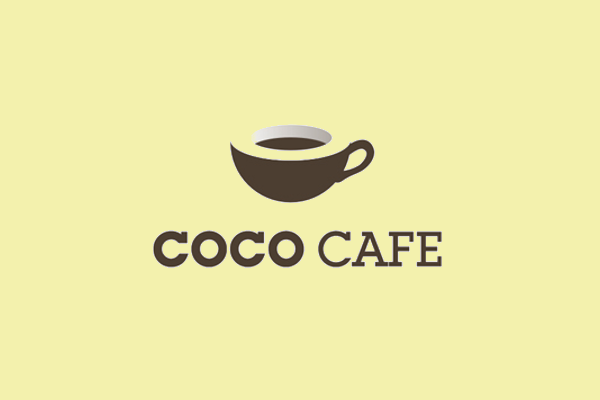 creative cafe logo design