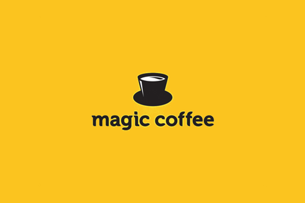 magic coffee cafe logo design1