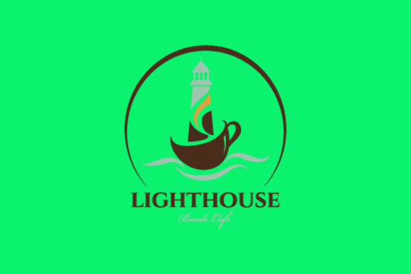 light house cafe logo design
